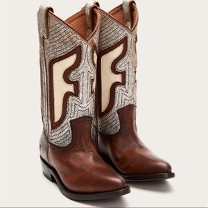 New Frye Billy Underlay Pullon Boot Cognac multi 8